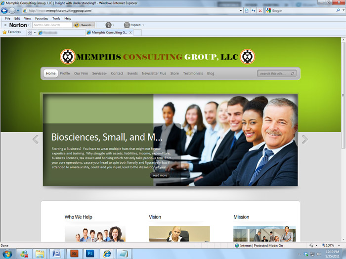 MEMPHIS CONSULTING GROUP – WEBSITE DESIGN