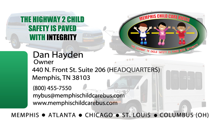 Memphis Child Care Bus – Business Card Design