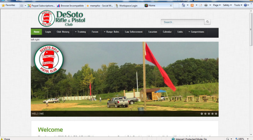 DeSoto Rifle & Pistol Club Web Design