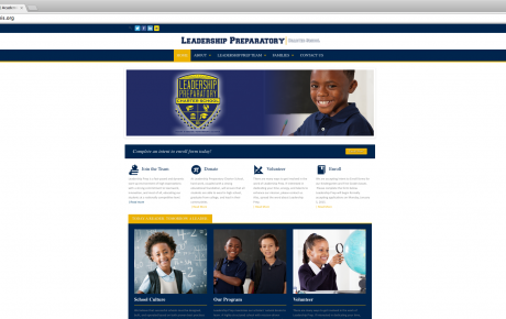 Leadership Prep – Website Design